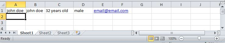 example on sheet 1 once you input the data