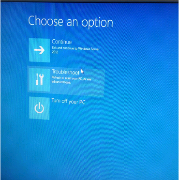 choose an option
