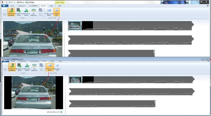 image wide screen or standard WMM