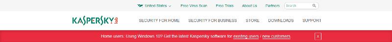 Kaspersky website screenshot