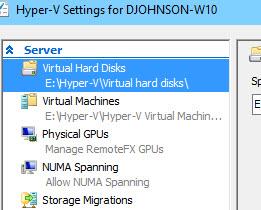 Hyper-V Settings
