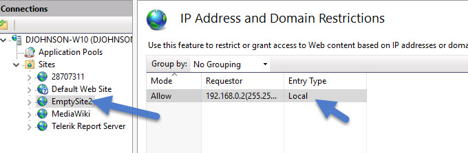 ip address restrictions