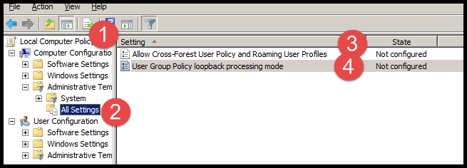 User OU Group Policies are not applied when user logs into Citrix Server