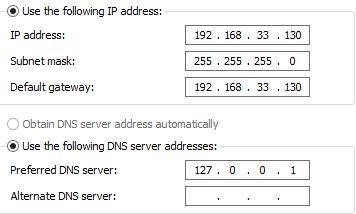Server network configuration