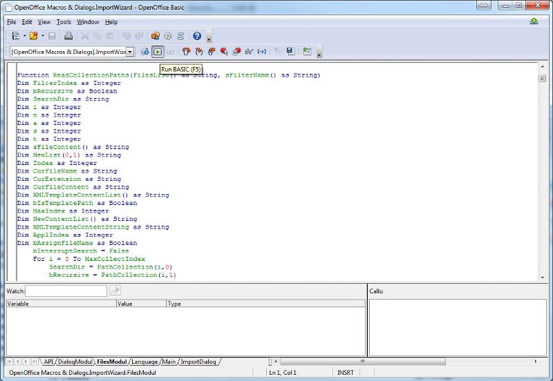 Open Office IDE