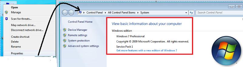 Windows OS version detail