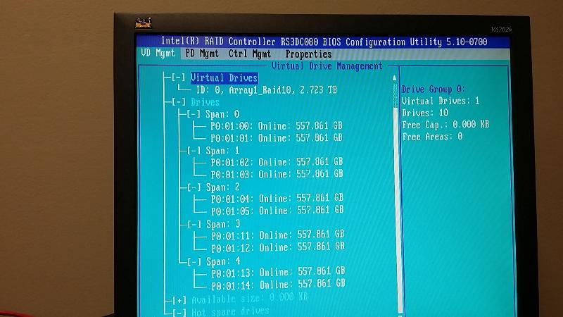 RAID BIOS after Rearranging Hard Drives