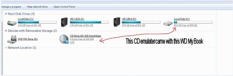 WD CD Emulator