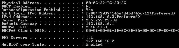 Server IP config
