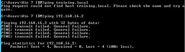 Ping result