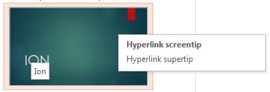 Backstage Hyperlink element