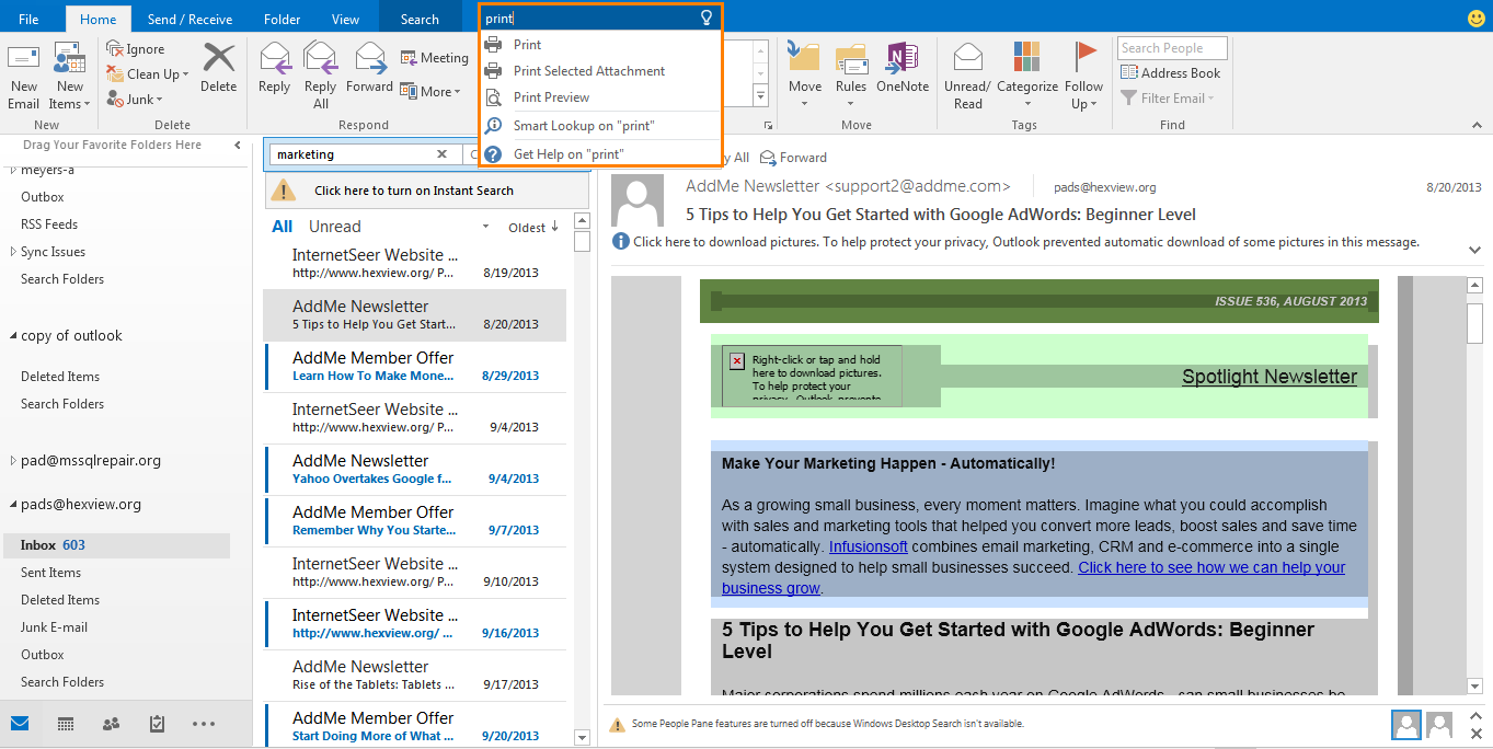 A Quick Peek At Microsoft Outlook 2016 & Its Updated Features