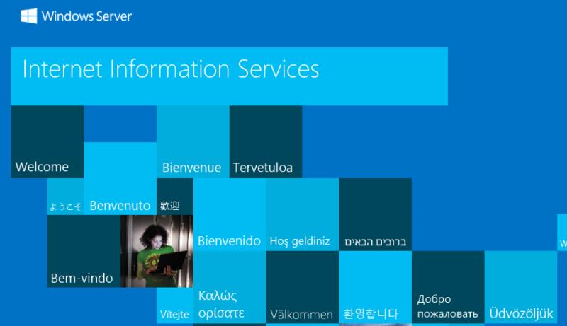 Server 2012R2 Default Website IIS 8