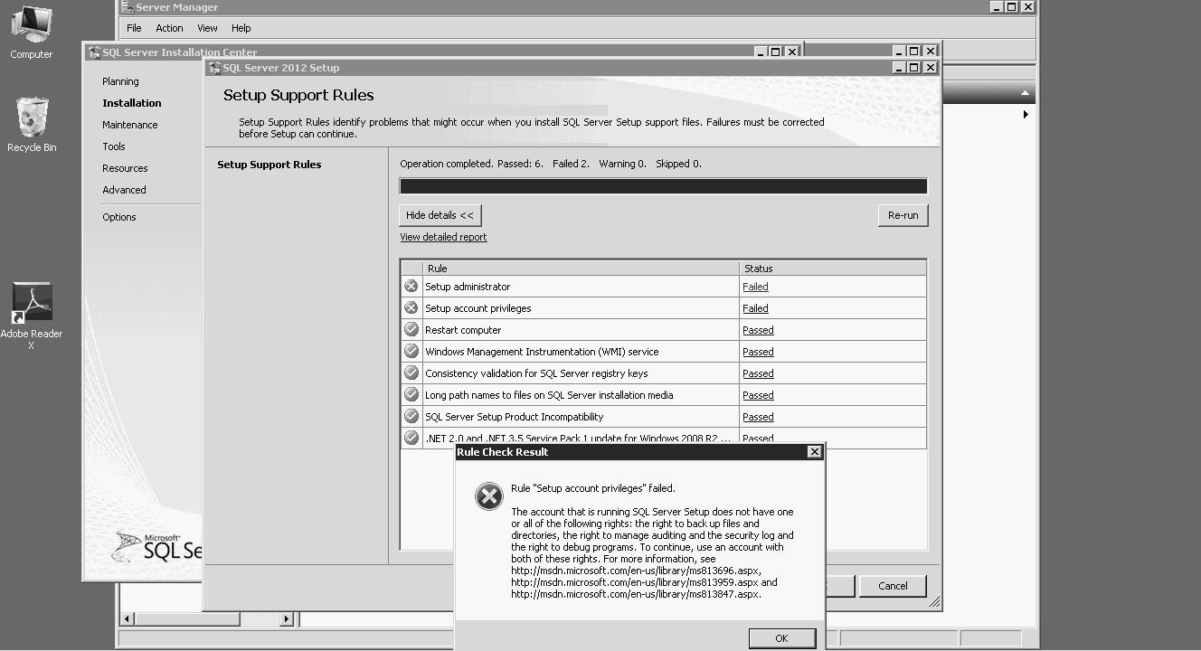 SOLUTION] SQL server 2012 installation error