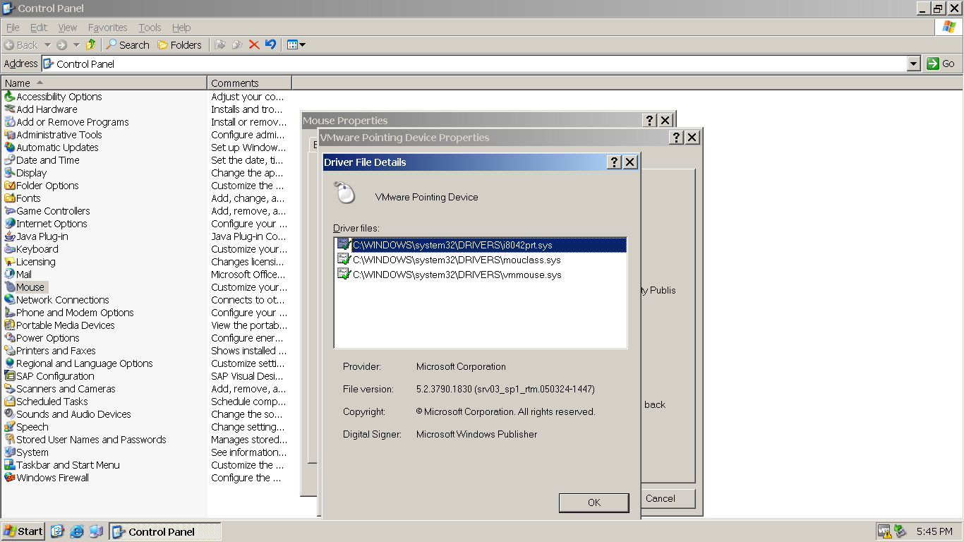 Configuring multitouch support in VmWare11