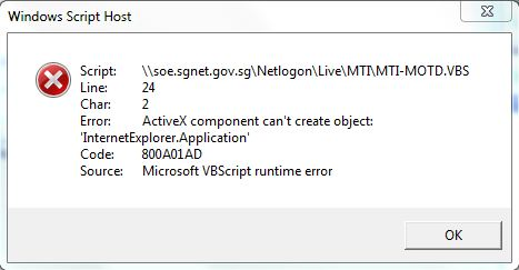 MTI-MOTD.VBS Error message