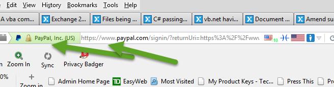 EV Cert and using https