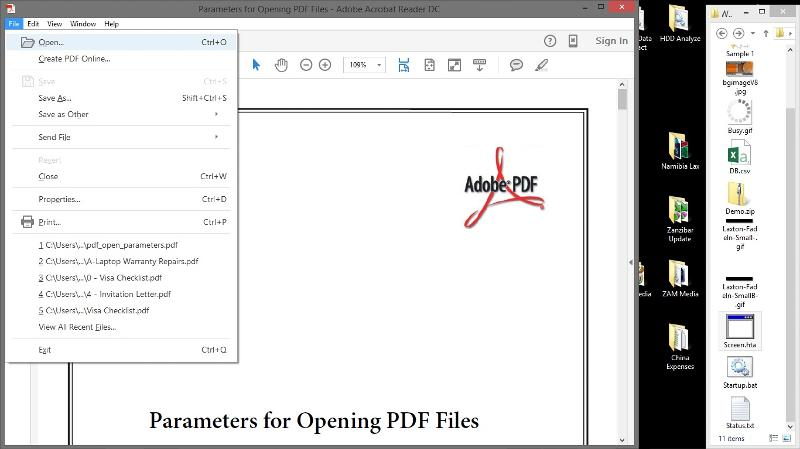 Aikimark, If I open a .pdf file in adobe reader several security holes opens with it. The user can for instance browse, go online...the list goes on and on.