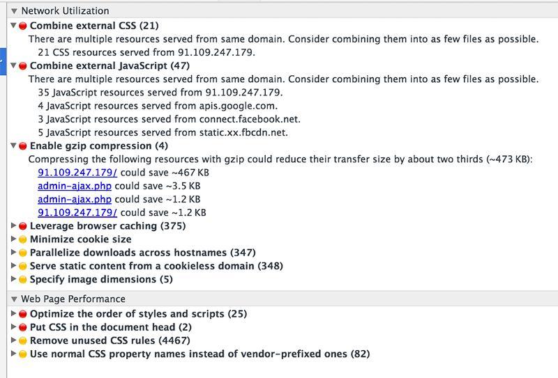 Screen shot -- Chrome Audit Summary
