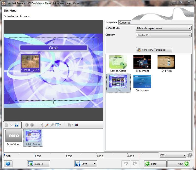 N Vision edit menu