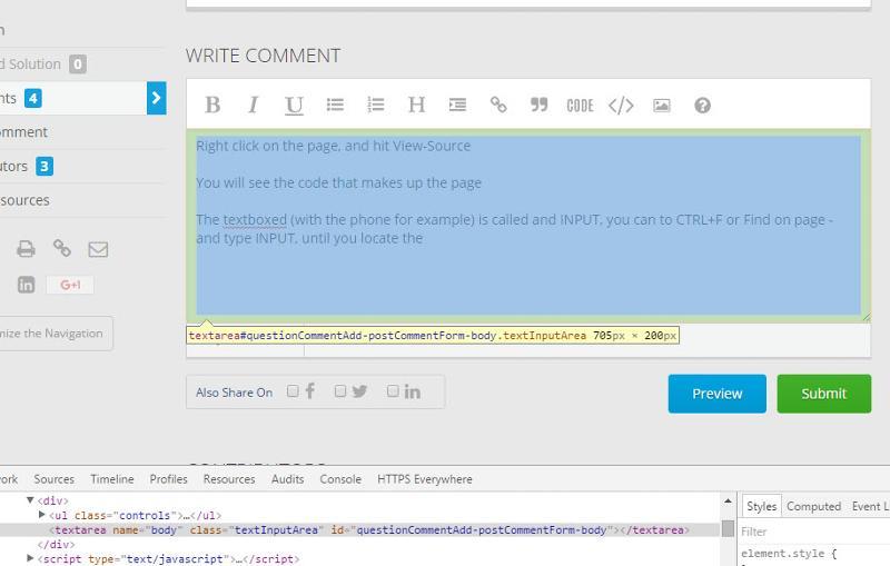 Example ot textbox