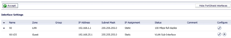 vLAN config on Sonicwall X0