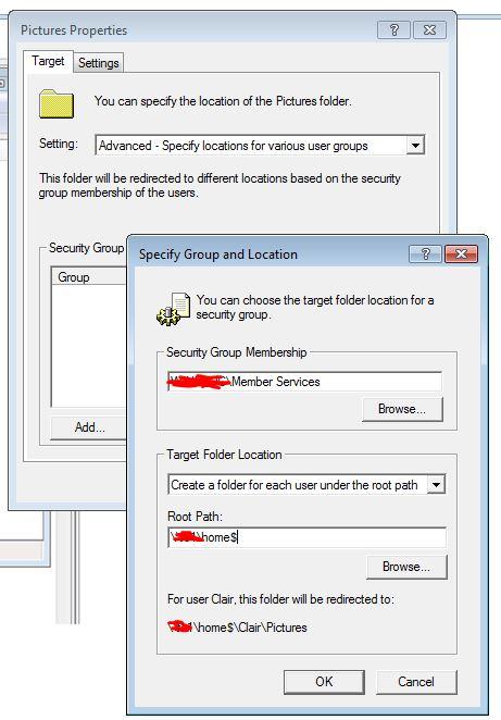 Folder Redirection
