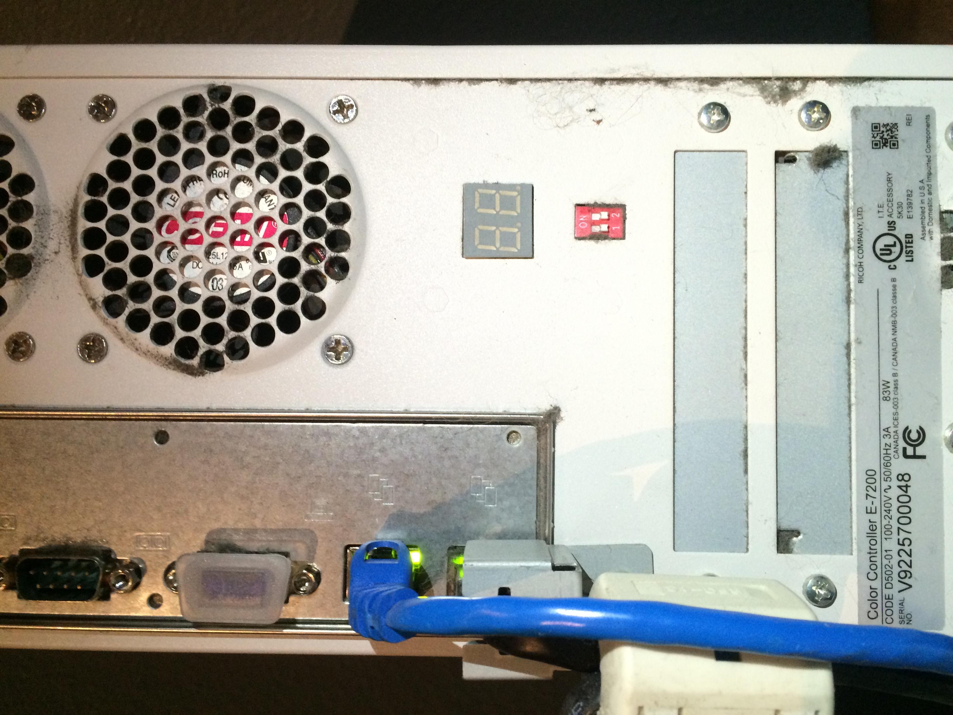 Savin (Ricoh) c9065 printer not printing