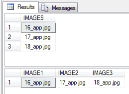 Need to take values in the first result and display them as you seem them in the 2nd result.