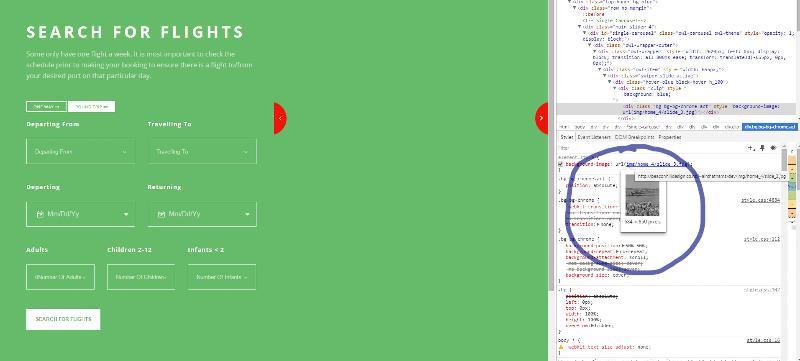 Screen shot showing image via Chrome inspector..