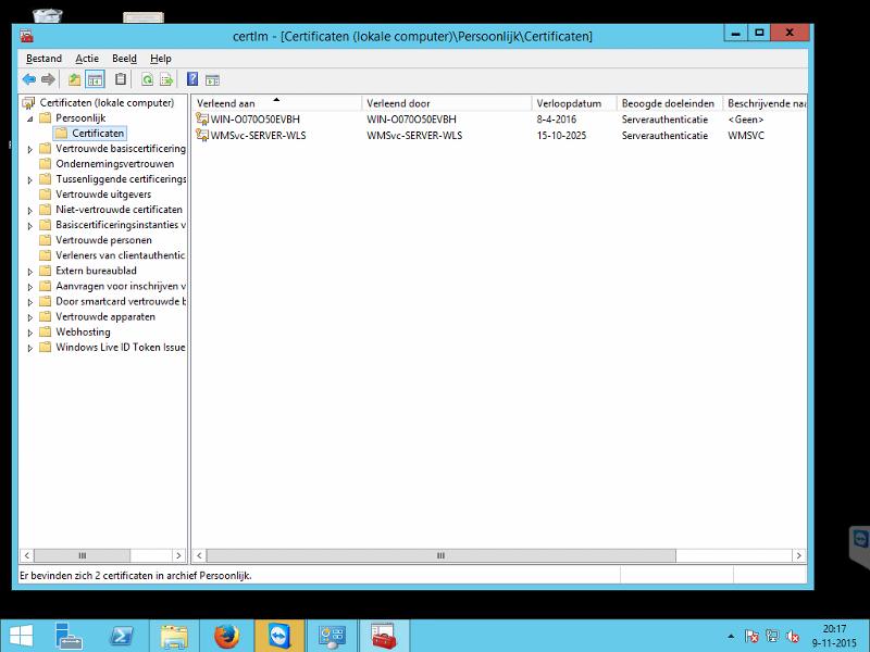 Screenshot of my certificat