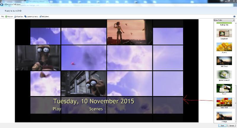 video wall menu