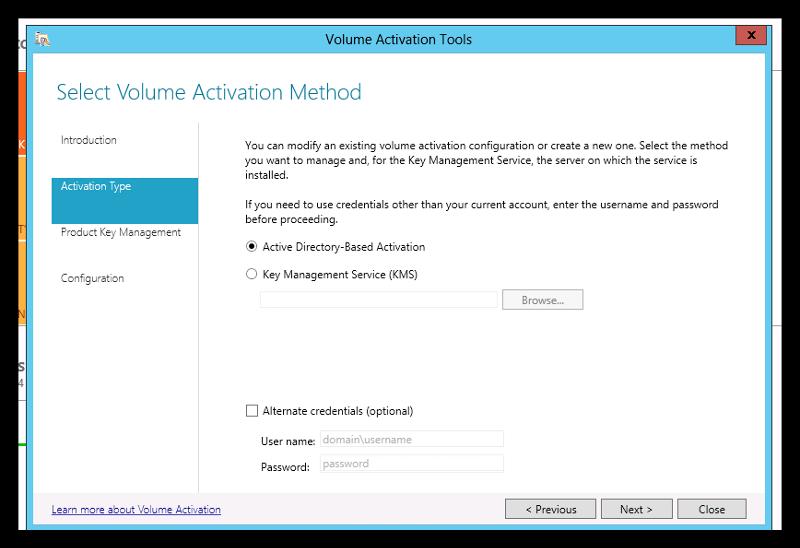 Volume Activation method