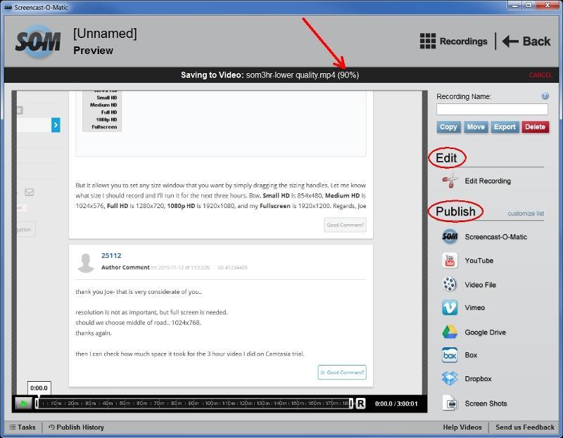 SOM edit publish