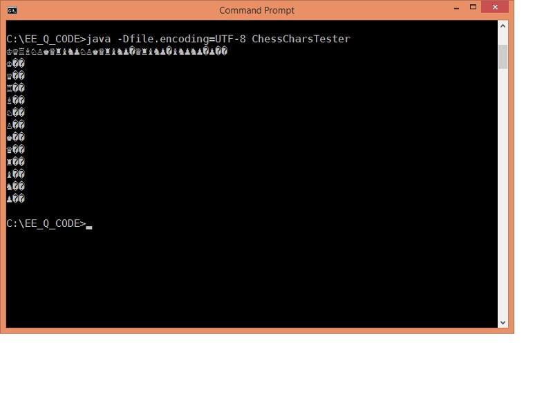 Screenshot of the console output. DejaVu, UTF-8 encoding.
