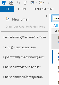 email account list