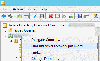 How to store bitlocker recovery information in AD DS