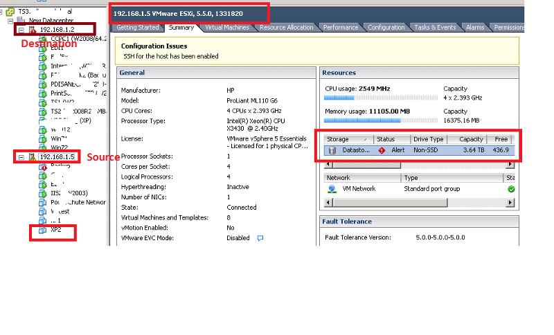 Source Host Datastore