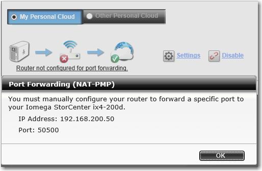 Personal Cloud - Port Forwarding