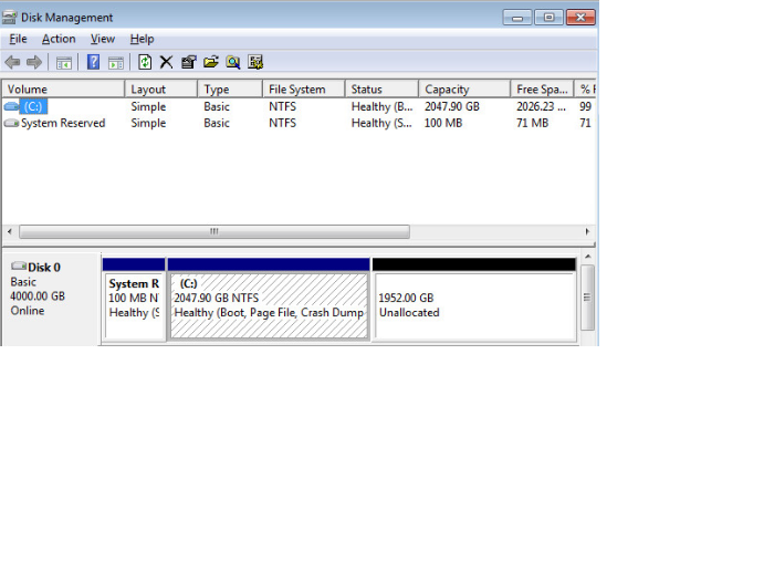 2TB Partition in Windows 7