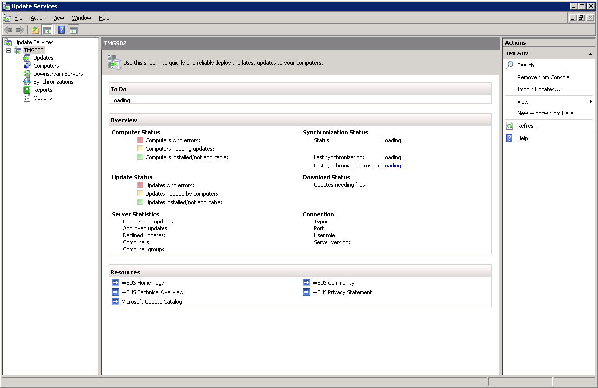 SOLUTION] WSUS Update Services MMC Console - Error