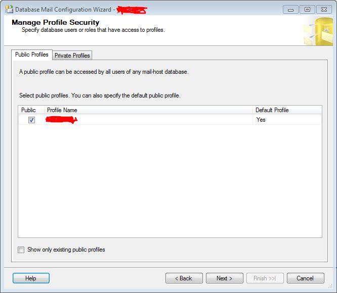 Manage Profile Security