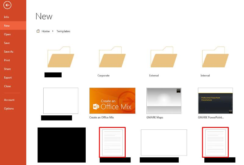 PowerPoint backstage template thumbnails