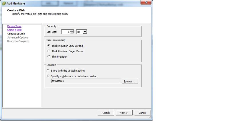 Create Virtual Disk1