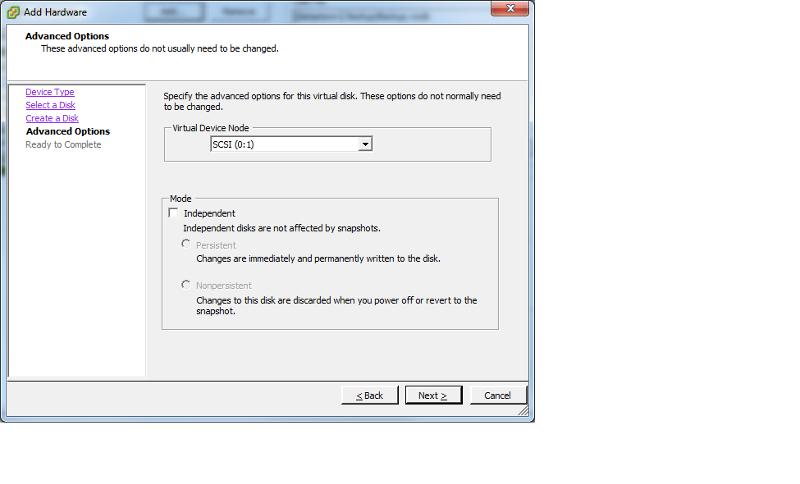 Create Virtual Disk2