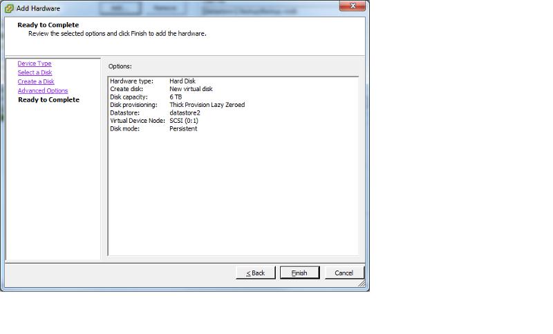 Create Virtual Disk3