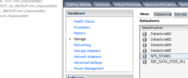 How do I get my missing Datastore back in vSphere?