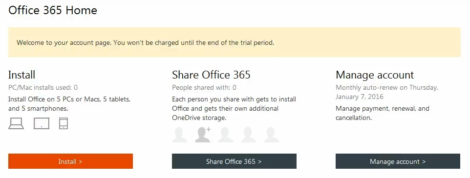 How to get a free trial of Office 365 with the Office 2016