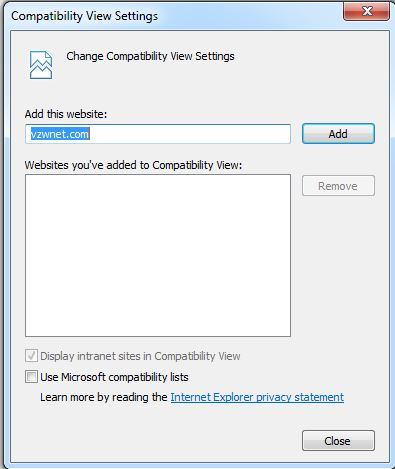 How to disable 'Display intranet sites in Compatibility View'