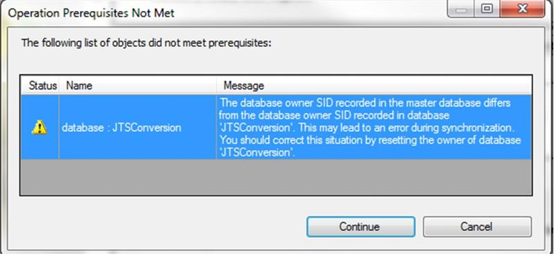 SQL Message